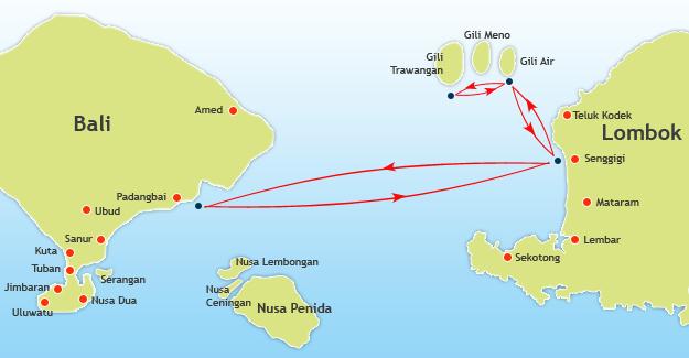 Marina Srikandi Route Map