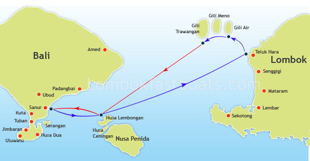Scoot Fast Cruise Route Map