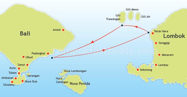 Wahana Gili Ocean Map